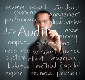 Audit written on a board